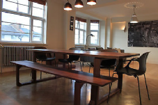 SOLID OAK Dining Table & Two Benches -The Givendale